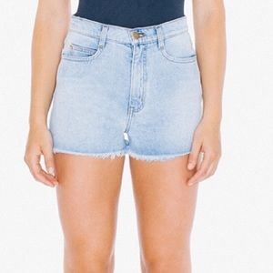 American Apparel High Waist Fringe Short